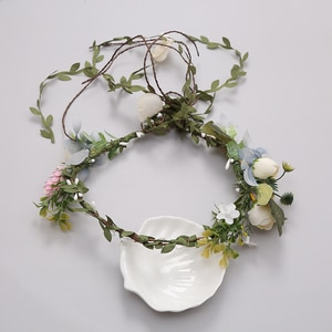 Women Wedding Party Headwear Hair Accessories Girl Flower Wreath Crown Festival Headband Headdress Adjustable Floral Garland