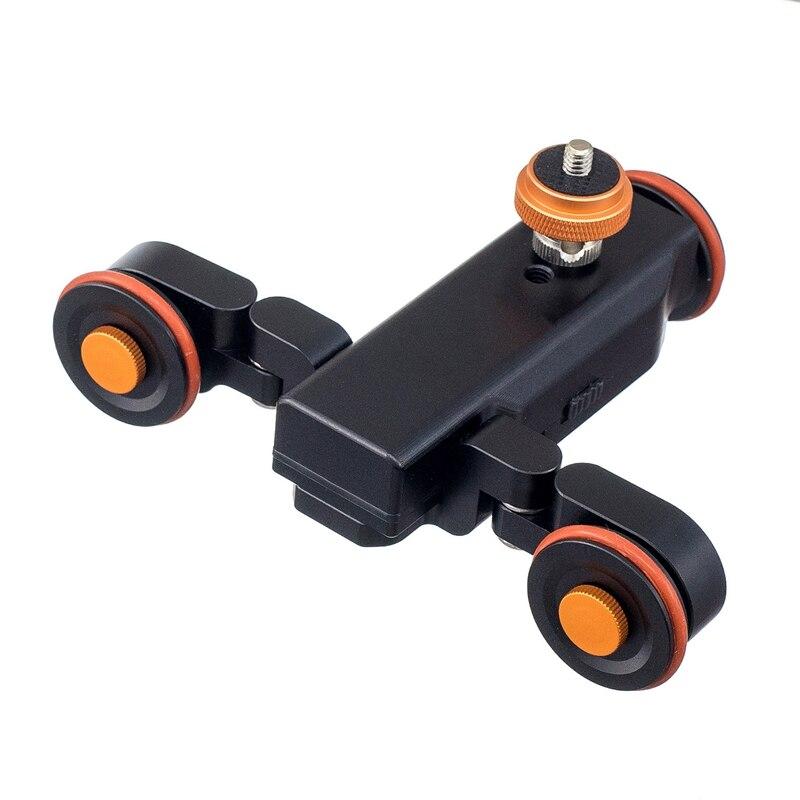 Promoción-L4 Mini motorizado pista eléctrica Slider Motor camión coche para cámara videocámara Dv cámaras camión coches con baterías