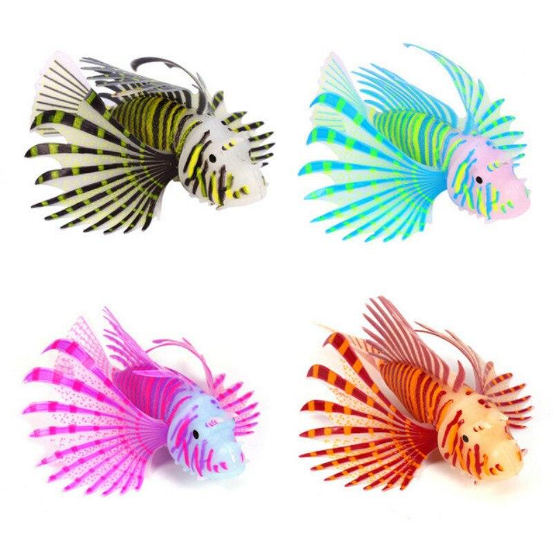 Acuario paisajismo decoración de acuario simulación luminosa Color pez león Material de silicona decoración de peceras