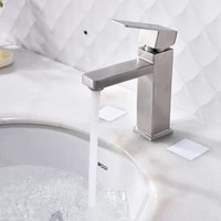 new square bathroom faucet 304 stainless steel basin mixer bathroom accessories tap bathroom sink basin mixer tap