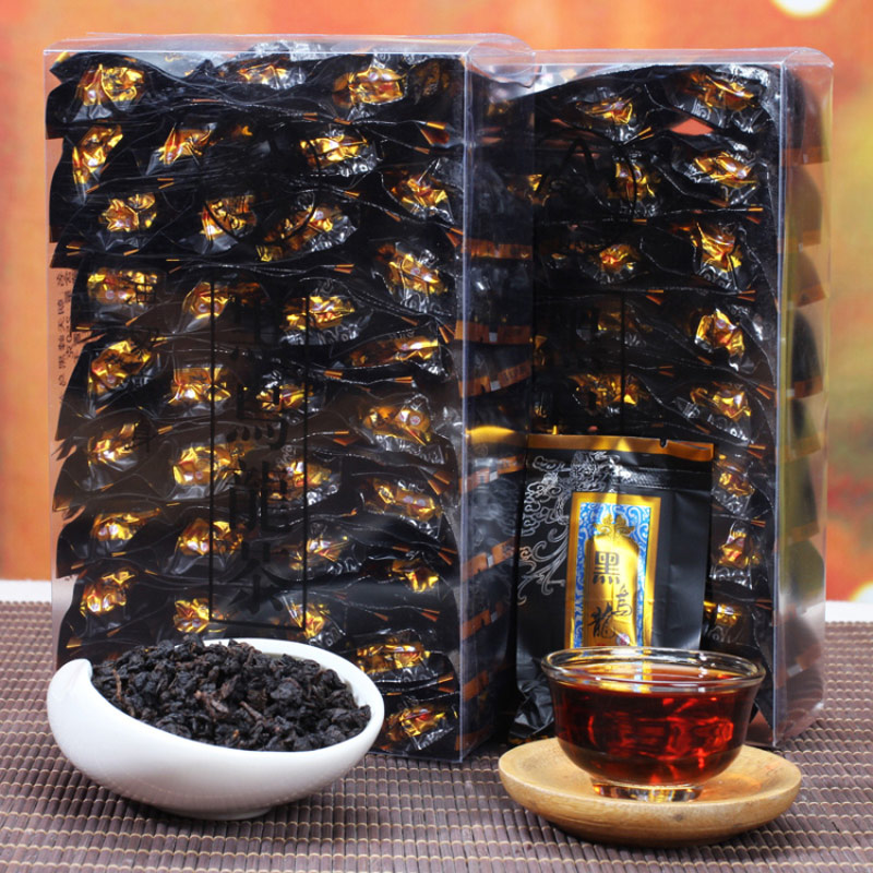 Black Oolong CN Tea Charcoal Techniques Health-preserving Tea Weight-loss, Body-thinning and Beauty-