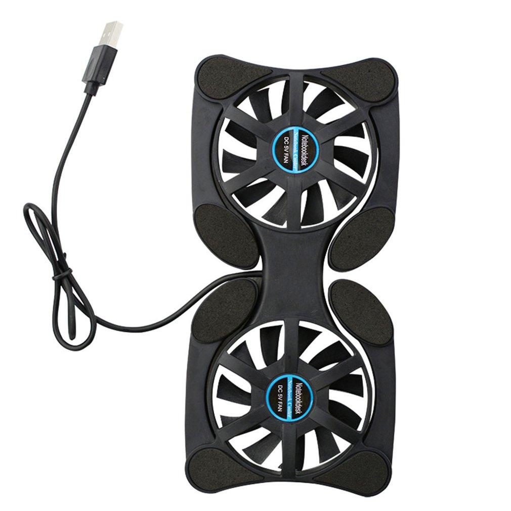 Mini Portable Laptop Fan Cooler Folding Foldable Usb Dual Fan Cooler Cooling Pad For Pc Laptop Notebook