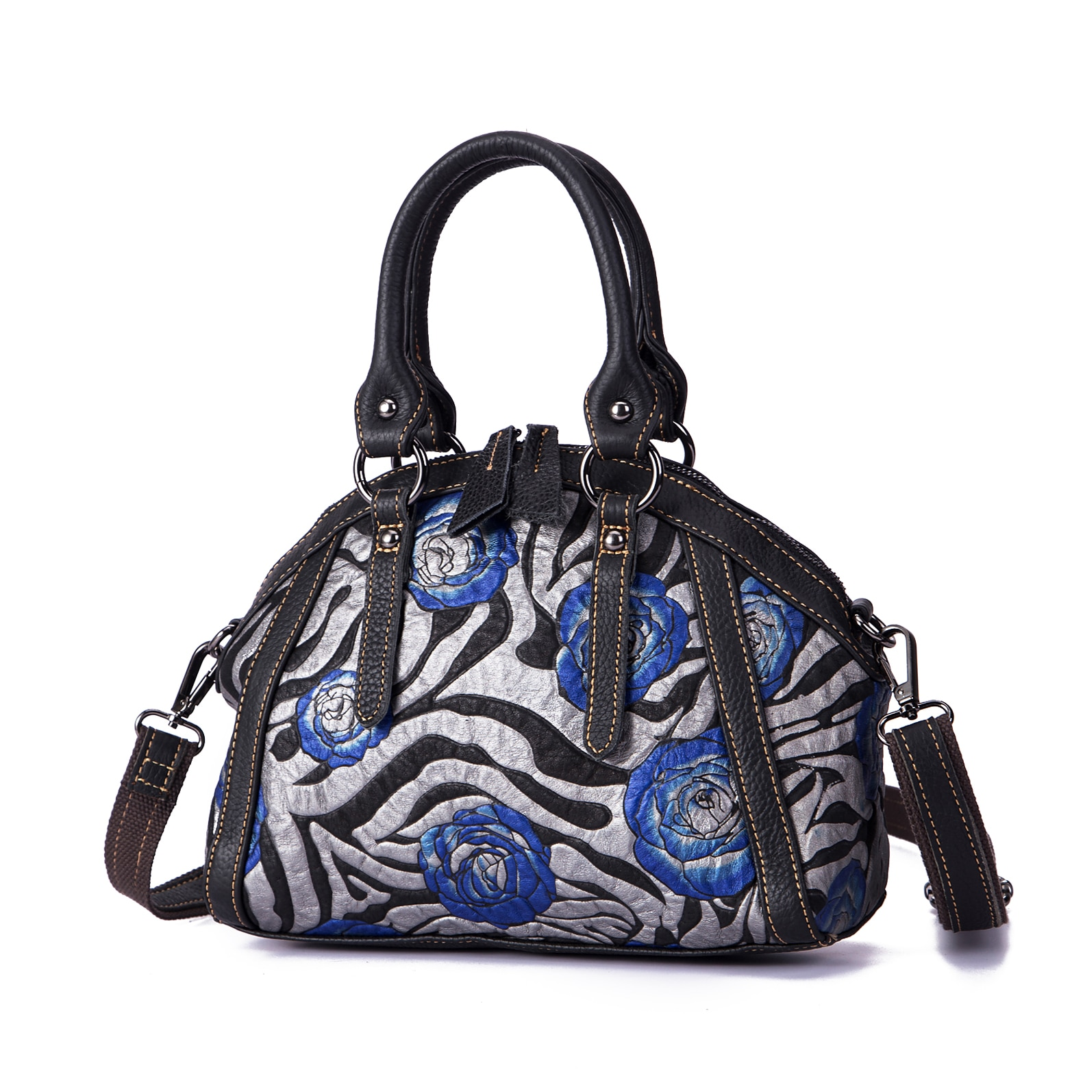 Emboss Original Leather Famous Brand Luxury Ladies Large Shopper handbag Shoulder bag Women Designer