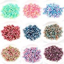 Imitation de perles ABS rondes   Pour artisanat, décoration, Scrapbook, bricolage, fournitures artisanales de couture, 50-500 pièces 3/4/5/6/8/10/12mm