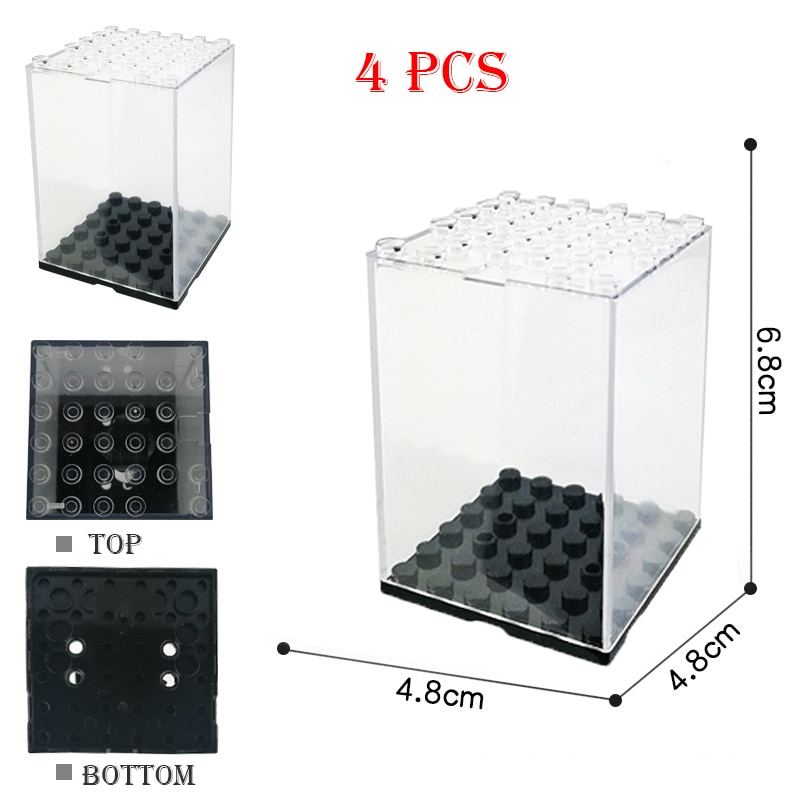 New Acrylic Dustproof Box/Case Building Block Collection Black Base Display/ShowCase Box Figures Bricks For Kids Toy Gifts acrylic plastic action figures princess starwars avengers display case box dustproof display box loz building block bricks toys