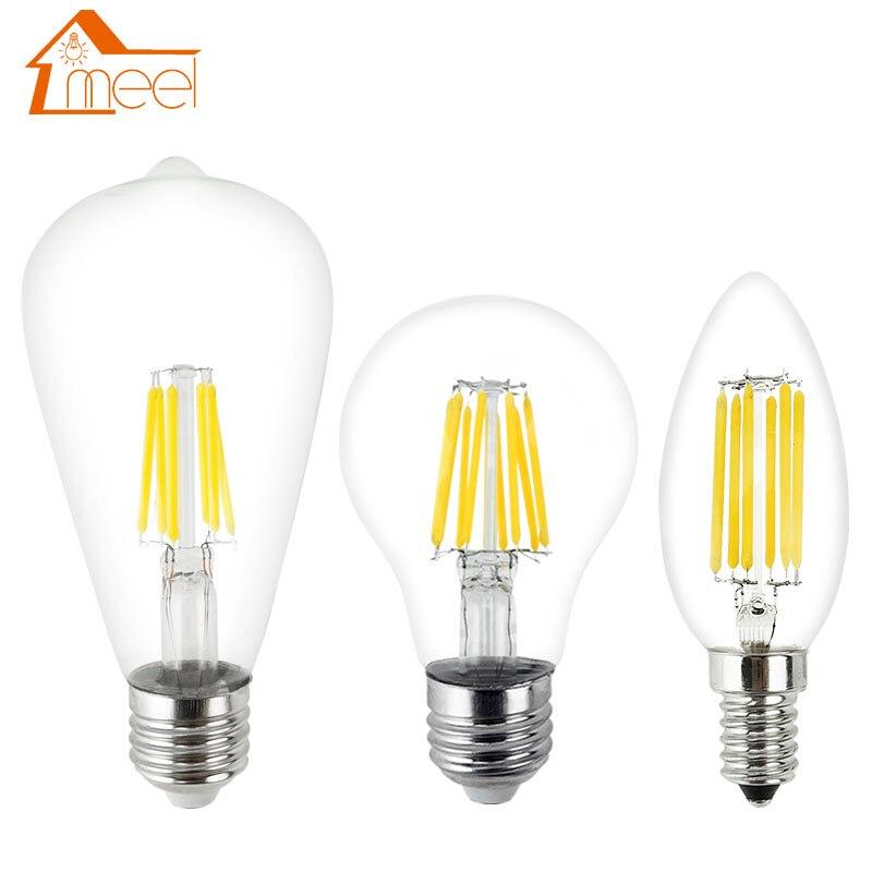 Bombilla LED Edison E27, E14, 220V, 240V, 2W, 4W, 6W, 8W, lámpara...