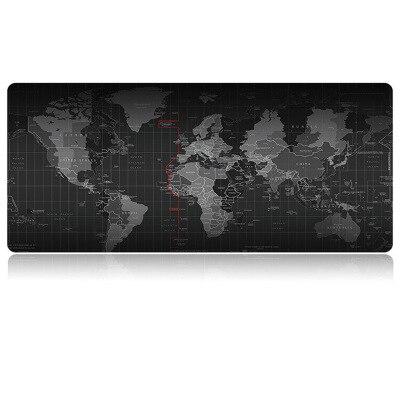 Almofada do rato do jogo novo mapa do mundo grande mousepad gamer acessórios xxl anti deslizamento de borracha natural computador teclado esteira de mesa Almofadas de mesa & Blotters    -