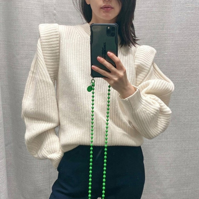 Office Lady Elegant Casual Style White Women Sweater Sweet Butterfly Sleeve Ruffles Solid Simple Winter Clothes Women 2020 enlarge