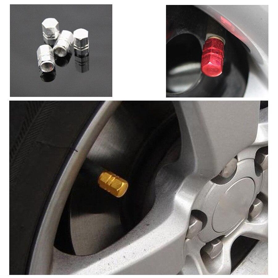 4 Uds. Válvulas Theftproof de aluminio para rueda de coche, vástago de neumático, válvula de aire, adornos de rueda de coche, tapa de rueda, accesorios de coche, Drshipping