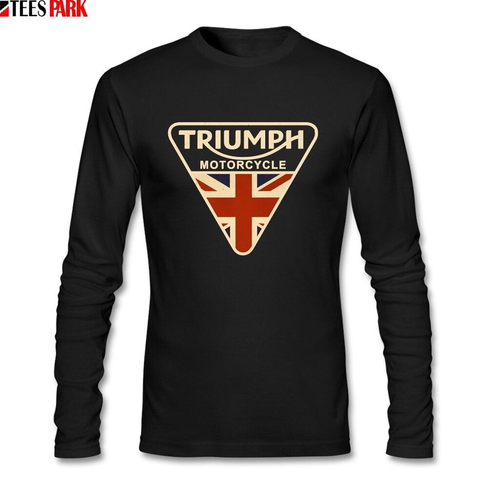 Craked Union Jack moto T Shirt UK Flag hombres S-XXL cuello redondo de manga larga Camiseta Casual de los hombres camisetas de impresión abstracta