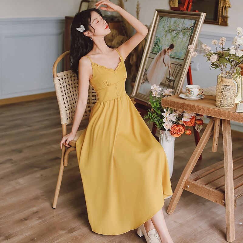 Price French Vintage Style French V-neck Brace Holiday Dress