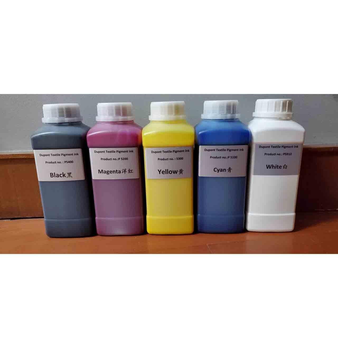 500 مللي زجاجة ستة لون حبر الأشعة فوق البنفسجية لآلة طباعة الملابس DTG