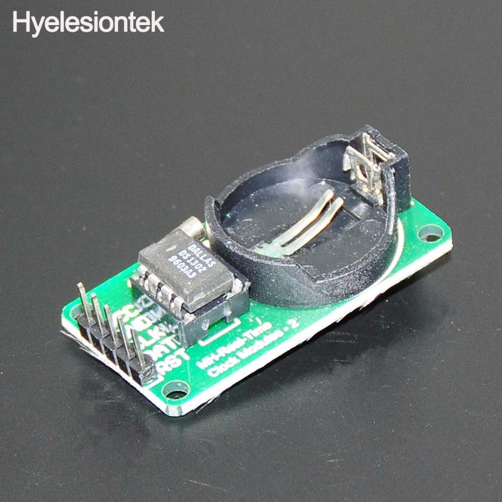 Модуль Clock Pro RTC DS1302 в режиме реального времени для Arduino AVR PIC ARM SMD макетные платы DIY стартовый набор 3 провода интерфейс 3,3 В/5 В