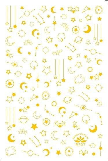 Laser de ouro e prata xingyue prego adesivos fototerapia unhas manicure suprimentos prego adesivos arte do prego metal jóias