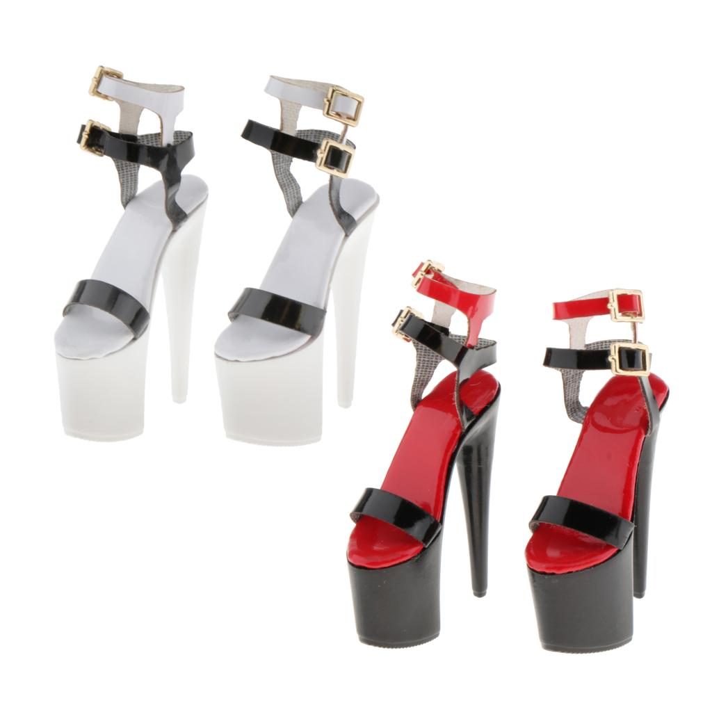 Fashion High-heeled Sandals Shoes For 12 Inch  Clothing Accessories