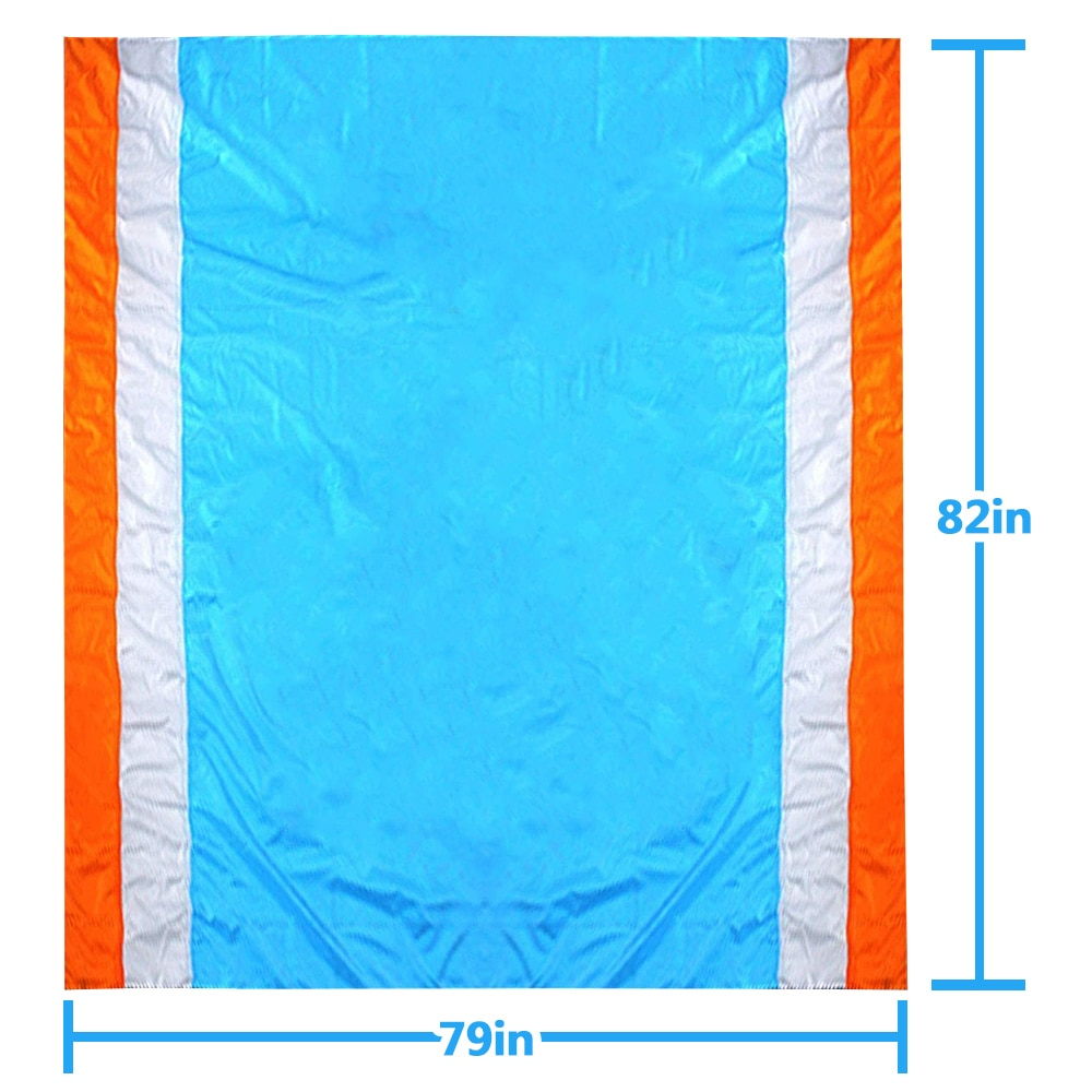 Beach mat, large 200x210cm, with 7 plastic floor nails, waterproof, sand and moisture proof, high quality nylon