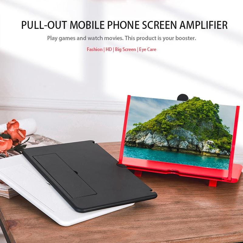 Усилитель экрана телефона Wonderlife для всех смартфонов, 12 дюймов, функция усиления, стабильный держатель для телефона, складная конструкция   Мобильные телефоны и аксессуары   АлиЭкспресс
