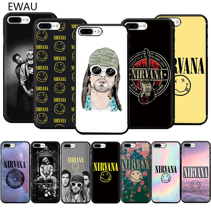 EWAU Nirvana, LOGO de TPU suave, funda de teléfono para iPhone SE 2020 11 Pro 5 5s 6 6s 7 8 Plus X XR XS MAX