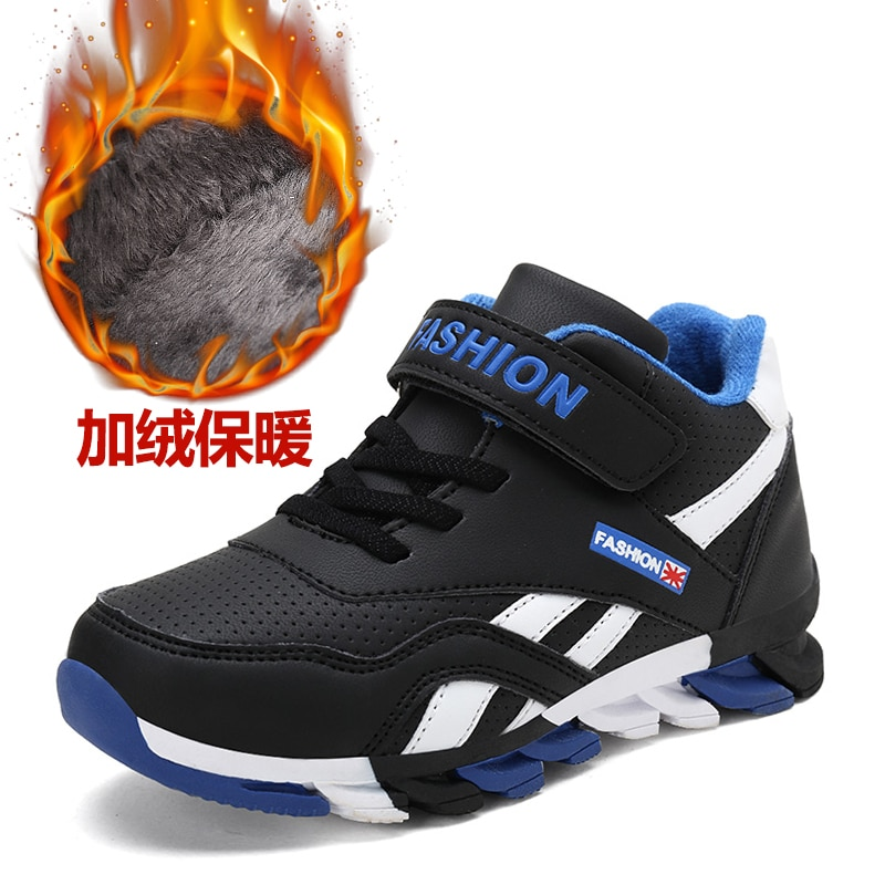2020 New Arrival Winter Leather Sports Running Shoes Children Cheap Warm Outdoor Sneakers for Boys H