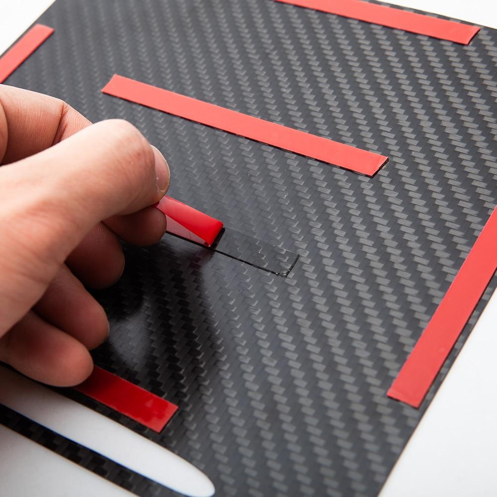 vxvb For Tesla Model Y 2021 Model 3 Car Real Carbon Fiber Central Interior Accessories Center Console Cover Control Panel Model3 enlarge