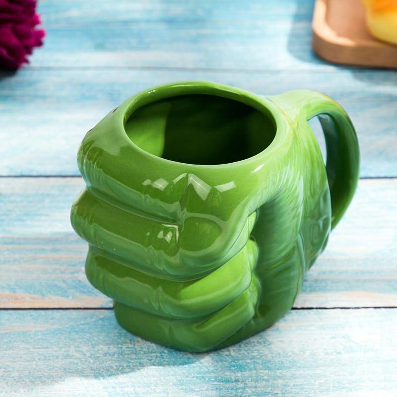 Tazas de cerámica taza creativa para café Iron Man Spider Man Capitán América Hulk y tazas de leche de porcelana con forma de puño divertido taza de té