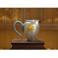 pure silver justice cup 999 sterling silver handmade sterling silver tea set tea drain set kung fu tea set tea set accessories