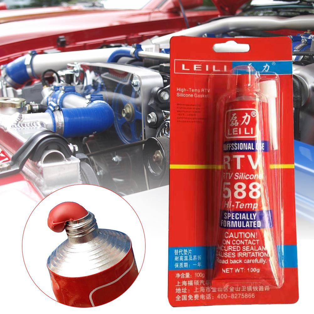 100g Professional Strong Adhesive Glue High Temperature Car Sealant RTV Fastening Glue For Car Motor Gap Seal Repair Tools