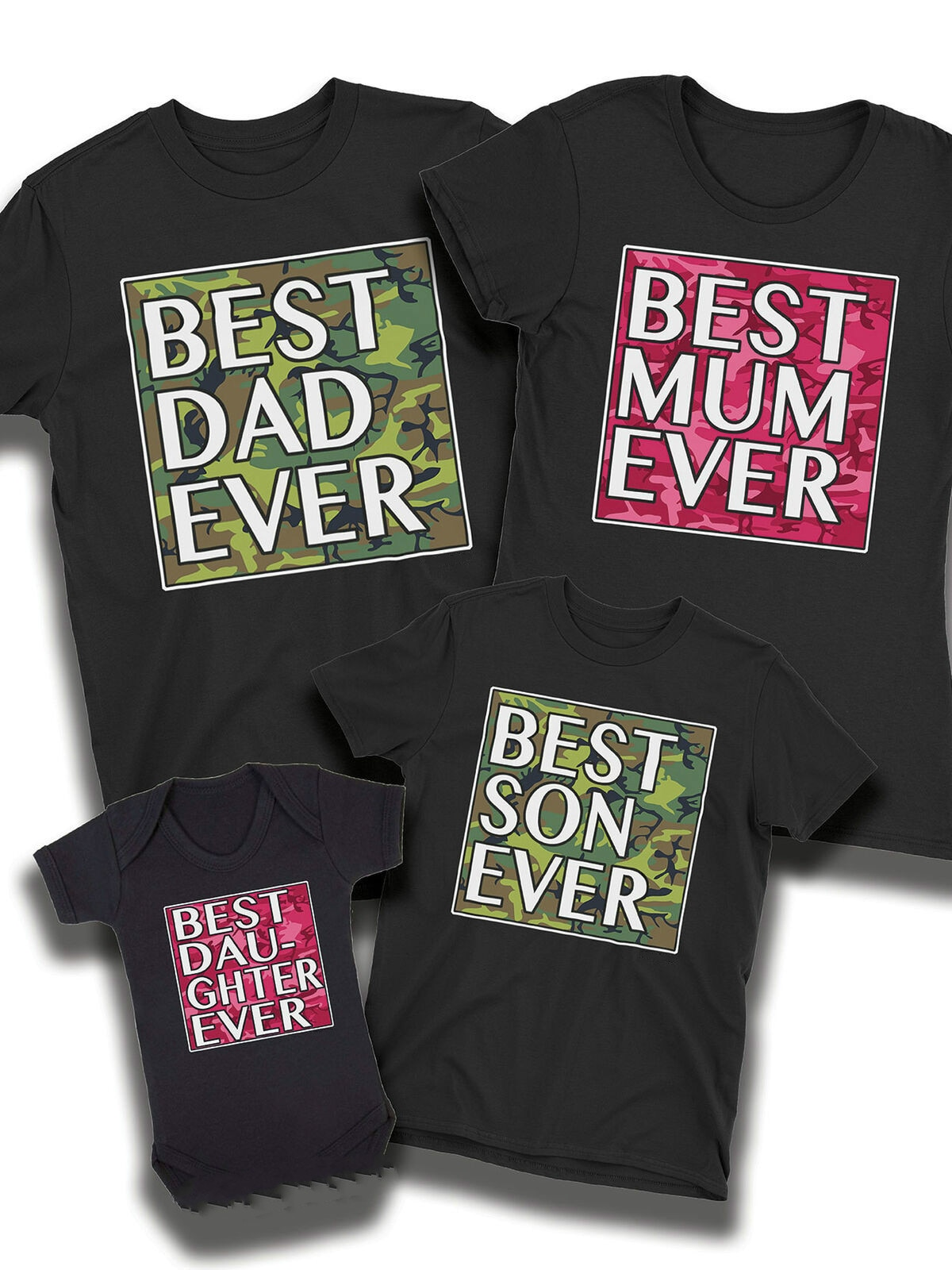 Best Dad Immer Camo T-Shirt Vater Mama Sohn Tochter Baby Familie Passenden Outfits Nette Geschenk