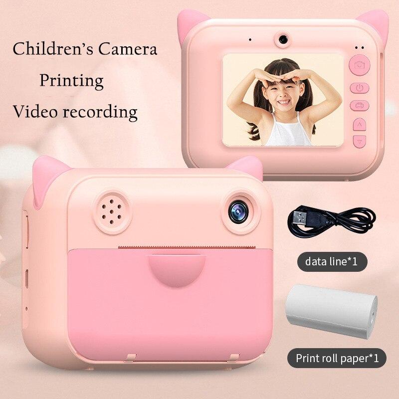 Cartoon Birthday Printing For Child Instant Print Photo Camera Camera Toys Paper Children Gift Camera Digital With Kids Children