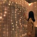 Рождественское украшение для дома 3 м занавес струнный светильник вспышка сказочная гирлянда домашний декор Свадьба День матери 2021 счастливый новый год