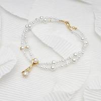 amorita boutique pearl double chain special locker choker fashion necklace