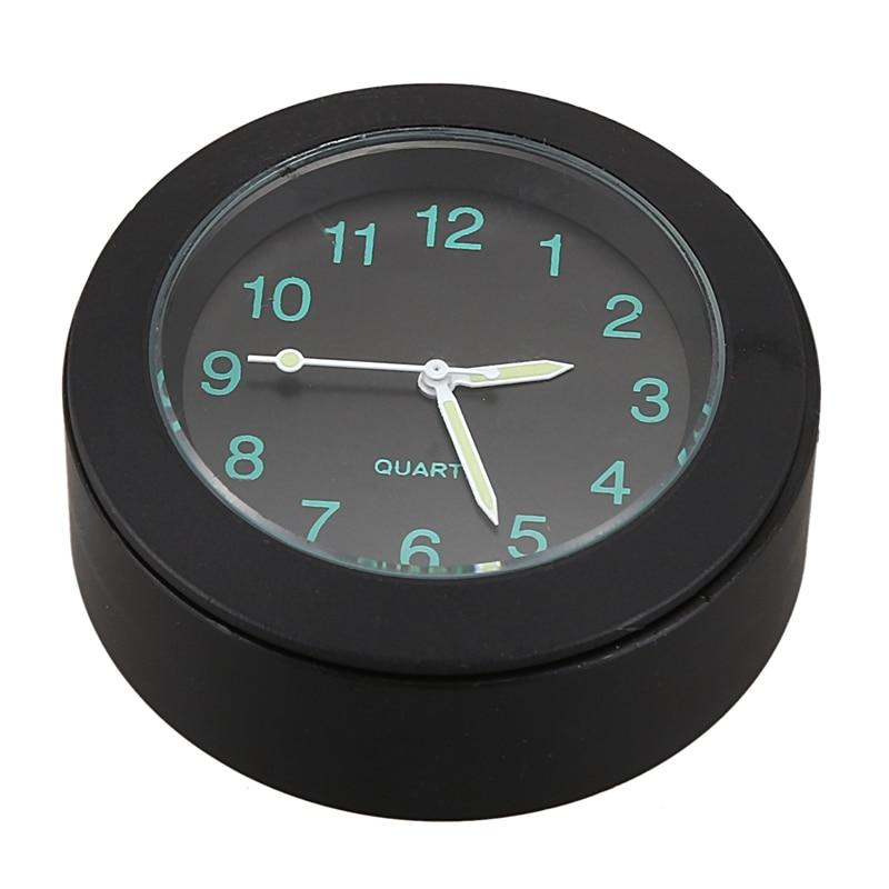 Reloj con forma de motocicleta SEWS, reloj de aluminio Cnc con soporte para manillar de motocicleta, reloj con hebilla negra impermeable Universal