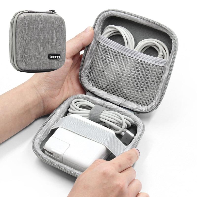Portable Earphone Storage Bag Hard Shell Digital Gadgets Case EVA Bluetooth Bag Data Cable MAC Charg