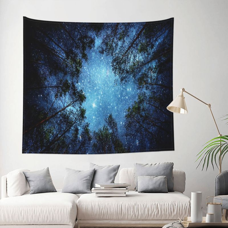 FFO Landscape Wall Tapestry Moon Tree Tapestries Night Sky Background Hanging Banner Cloth Living Room Decoration