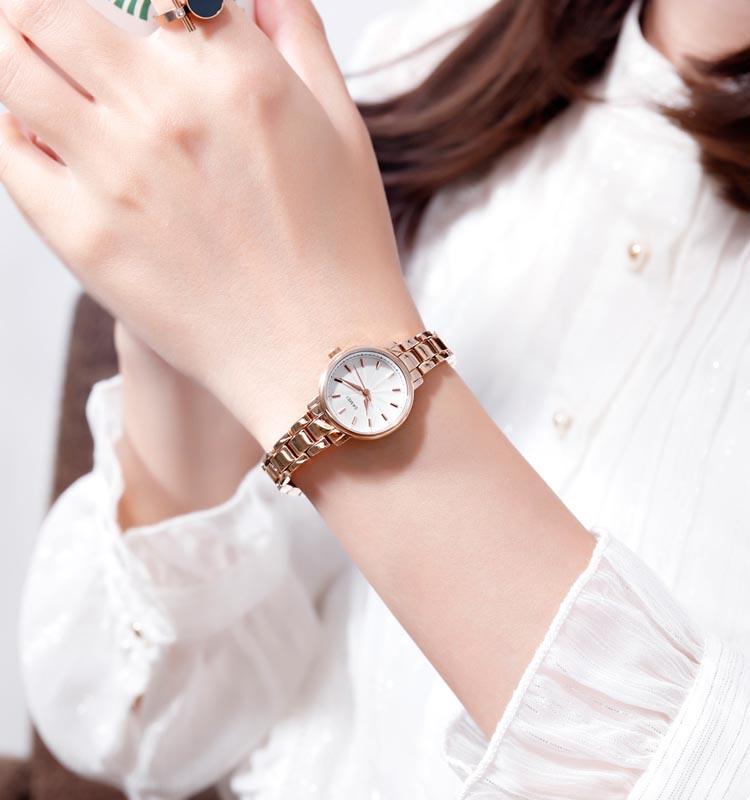 SKMEI Luxury Stainless Steel Strap Women Quartz Watch Simple Girl Business Watches Female Wristwatches Montre Femme Clock 1410 enlarge