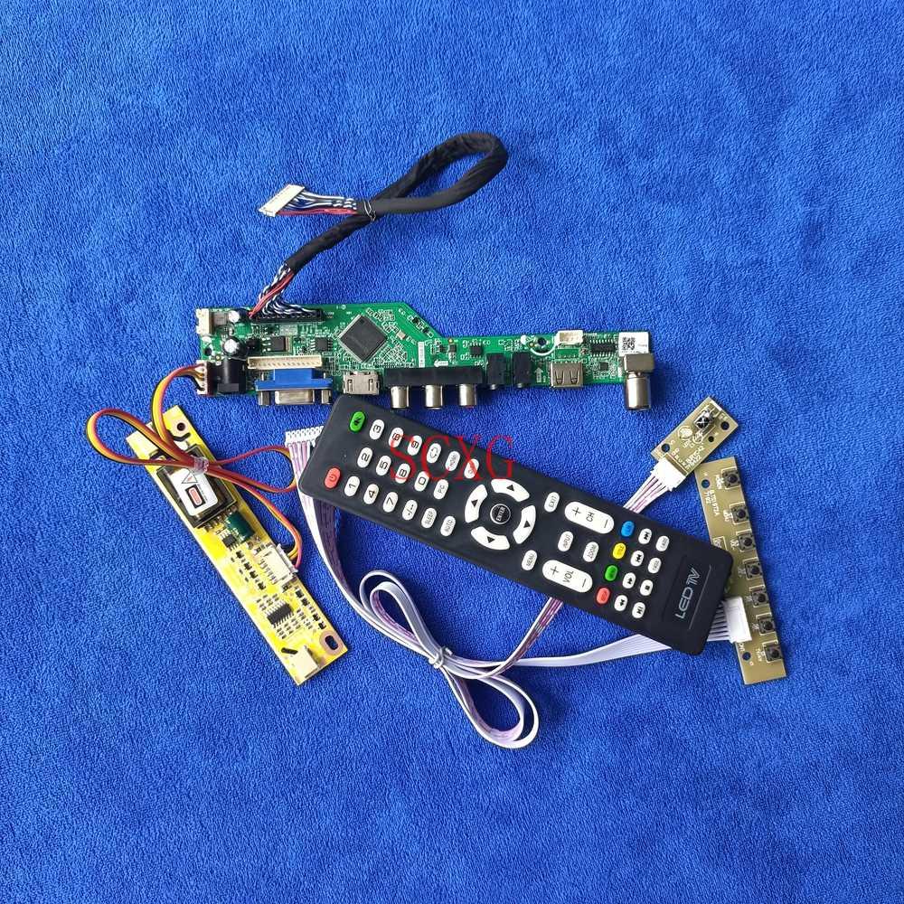 2CCFL 1280*1024 التناظرية إشارة ل LTM170ET01/M170E8/MT170EN01 شاشات كريستال بلورية محرك المجلس HDMI-متوافق USB AV VGA عدة LVDS 30 دبوس