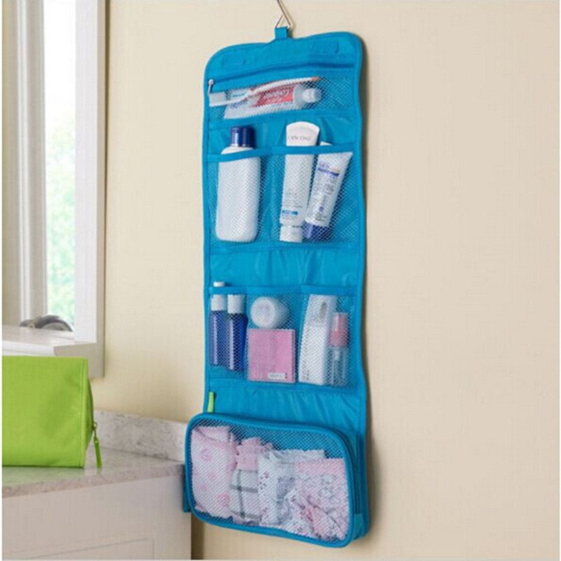 Portable Hanging Organizer Bag Foldable Cosmetic Makeup Case Storage Traveling Toiletry Bags Wash Ba