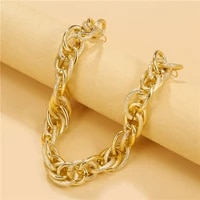 wholesale punk chain choker necklace women collar statement brand gold color chunky chain necklace steampunk men women gift