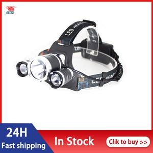 Outdoor Led Headlights Strong Light Charging Super Bright Head-mounted Flashlight Induction Long-range Night Fishing Lighting