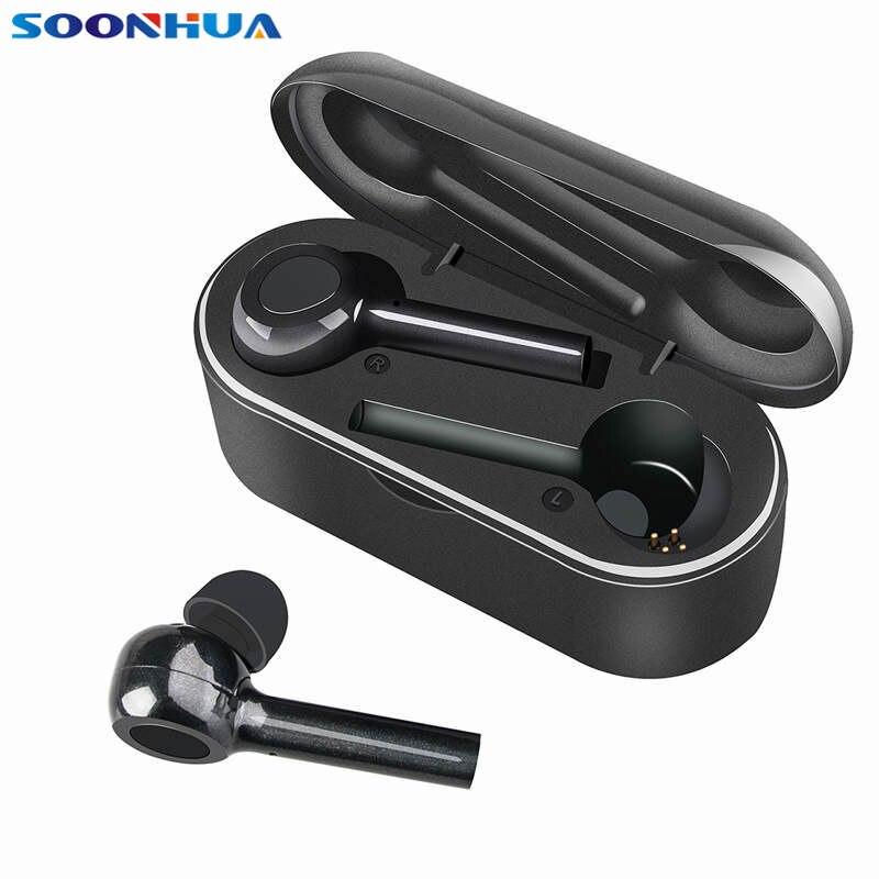Portátil sem Fio Fones de Ouvido Conforto em Fones de Ouvido com Caixa de Carregamento Bluetooth Estéreo Áudio Alta Fidelidade Conforto em com Caixa de Carregamento V5.0 Tws hd