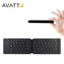 AVATTO светильник-удобная русская/английская Bluetooth складная клавиатура, складная беспроводная клавиатура для IOS/Android/Windows ipad Tablet phone