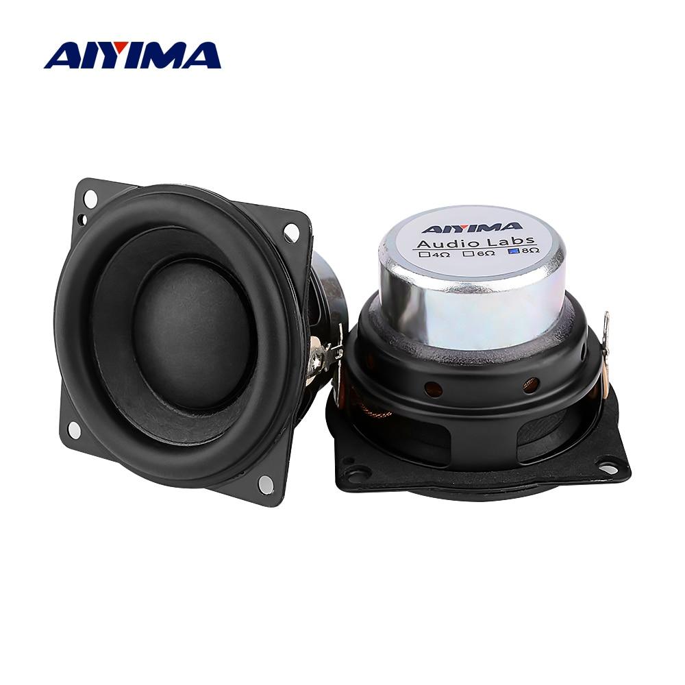 AIYIMA 2 قطعة 2 بوصة كامل المدى الصوت مكبرات الصوت 8 أوم 10 واط النيوديميوم المغناطيس Hifi ستيريو مكبر صوت لاسلكي محمول المسرح المنزلي مكبر الصوت