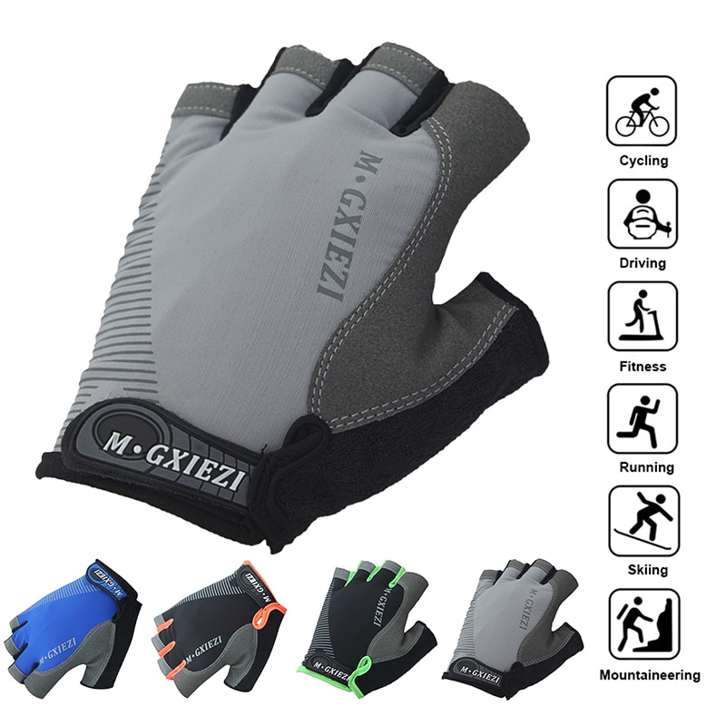 1Pair Half Finger Cycling Gloves Anti-Slip Anti-sweat Gel Bicycle Riding Gloves Shock Proof MTB Road Mountain Bike Sports Gloves breathable cycling gloves road bike gloves men sports half finger anti slip bicycle mtb road bike gloves