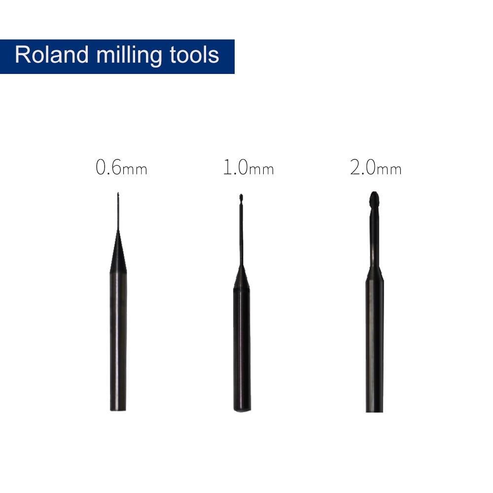 Fresa dental de diamante para fresadora roland fresadora 500 Uds corona, herramienta de fresado de diamante para máquina roland