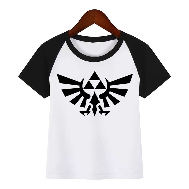 Camiseta de cuello redondo de la leyenda de la historieta de selda para niños