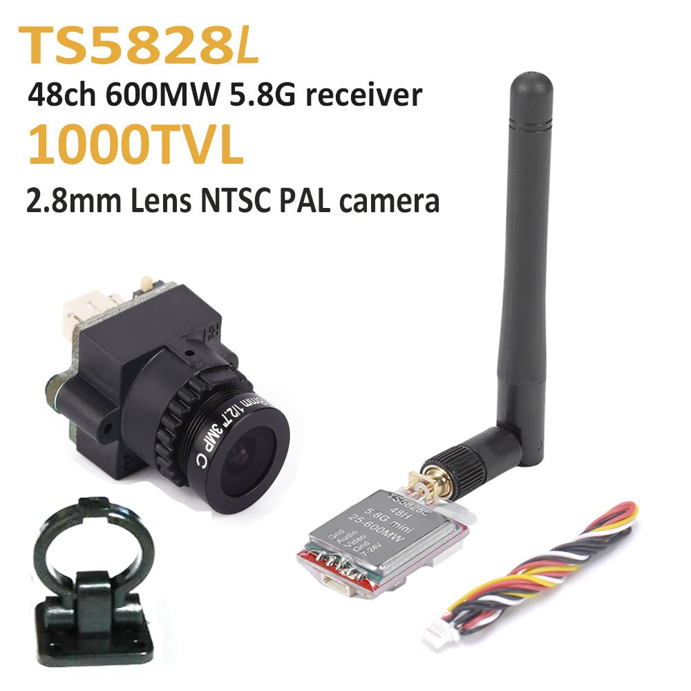 FPV Mini Digital Video Camera 1000TVL 1000 TVL Line 2.8mm lens and TS5828L Micro 5.8G 600mW 48CH Transmitter For RC qulticopter
