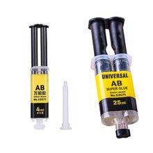 New 4ML / 25ML Universal AB Super Glue Epoxy Resin Liquid Glue Strong Adhesive Household Repair Glue For  Leather, Wood etc.