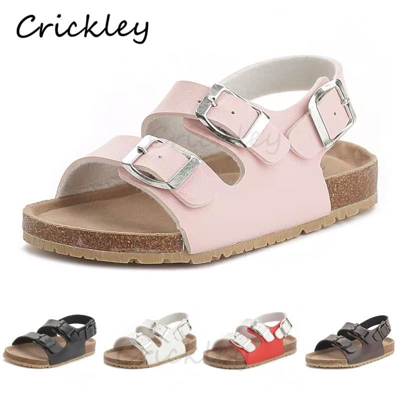 الفلين الاطفال الصلبة الصنادل Gladiatus مريحة لينة وحيد مشبك حزام الأطفال الصنادل للفتيات الصغيرات الفتيان الصيف الأحذية 3T-12T