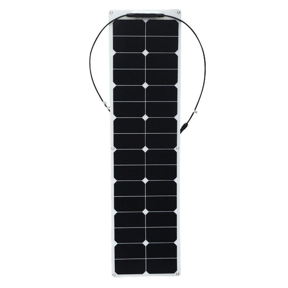 مرنة واط 50 واط مرنة لوحة طاقة شمسية مع عازلة backpaper الشمس خلايا الطاقة 18 فولت 12 فولت ل RV سيارة قارب تخييم