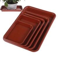 1pcs red sand balcony flower pots tray for plastic rectangle flower pots tray suitable plant saucer s m l